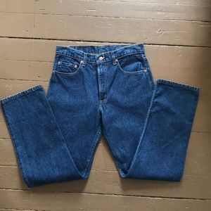 Vintage Levi 505 blue jeans dark wash made in 🇺🇸